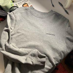 calvin klein grey crewneck sweatshirt